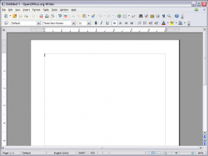 OpenOffice Writer Screenshot