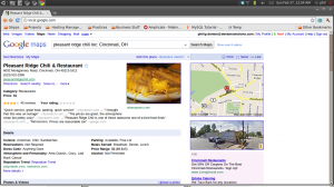 Google Places Page of Pleasant Ridge Chili
