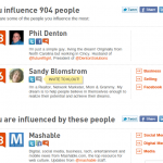 Klout Influencers Screenshot