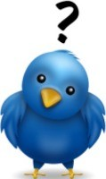 Twitter Bird with Question Mark