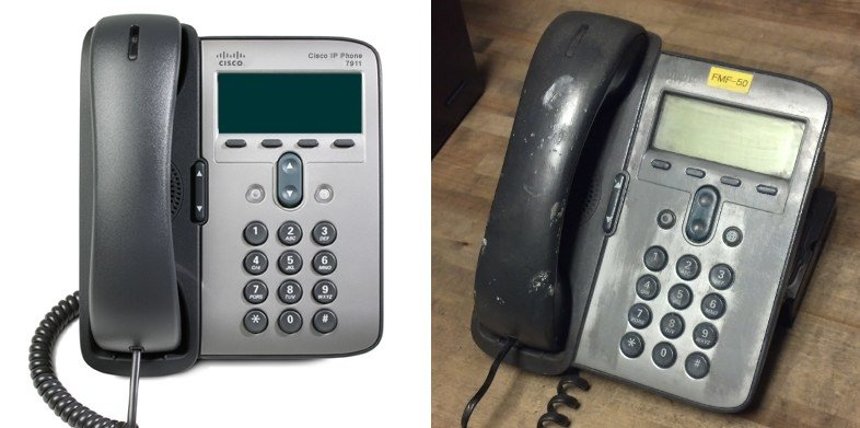 Cisco 7911 IP Phone Before and After