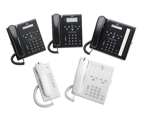 Cisco 6921, 6945, 6961, 6901, and 6911 Unified IP Phones.